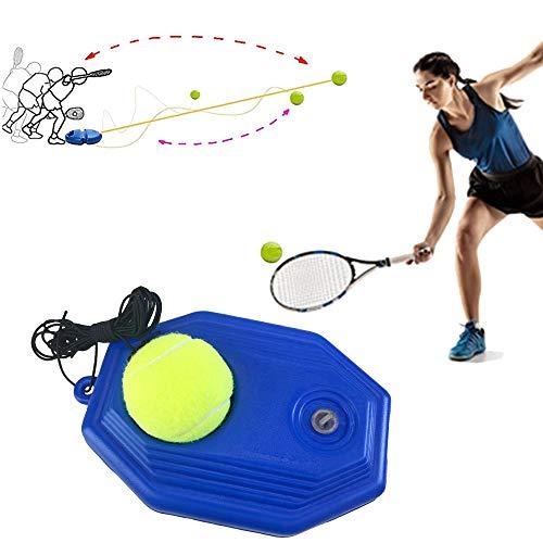 Entrenador De Tenis Herramienta De Entrenamiento De Tenis Con Pelota De Tenis De Ejercicio, Entrenador De Tenis Dispositivo De Entrenamiento De Zócalo De Tenis Para Principiantes, Ronda azul