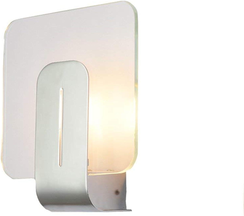 Hai Ying   Moderne minimalistische LED Glaswandleuchte Kreative Wohnzimmer Flur Wandleuchten Gang Balkon Treppe Lichter Schlafzimmer Nachttischlampen Wandleuchte