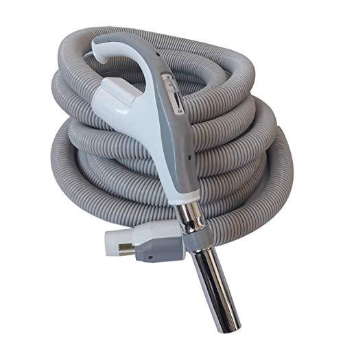 SACH Zentralstaubsauger Saugschlauch PLUS mit Ein/Ausschalter und Saugkraftregulierung für VAC Digital geeignet, Anschluss für Zubehör 32 mm, Anschluss für Saugdose 37 mm, Länge 12 m