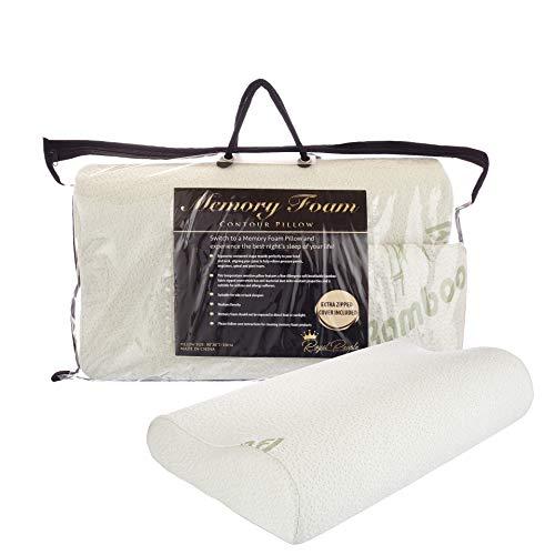 Royal People - Cuscino sagomato in memory foam con rivestimento in morbido tessuto di bambù, lavabile e traspirante, con copertura di ricambio.