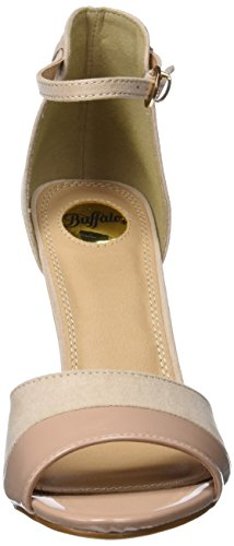 Buffalo Shoes IMI SUEDE PAT PU, Sandalen, Beige - 2