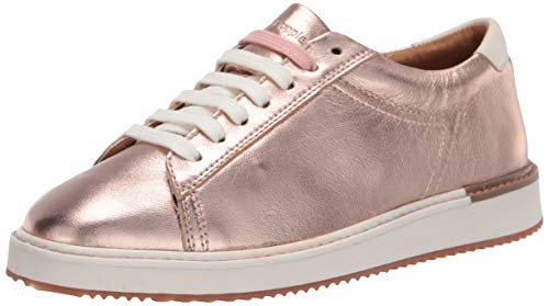 Hush Puppies Womens Sabine Sneaker, Rose Gold Metallic Leather,9 Wide