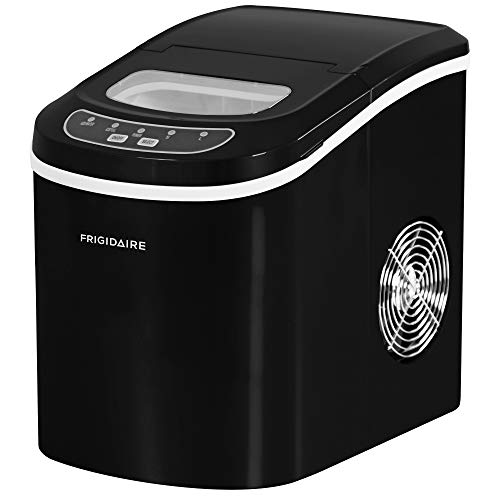 FRIGIDAIRE EFIC101-BLACK Portable Compact Maker, 26 lb per Day, Ice Making Machine, Black