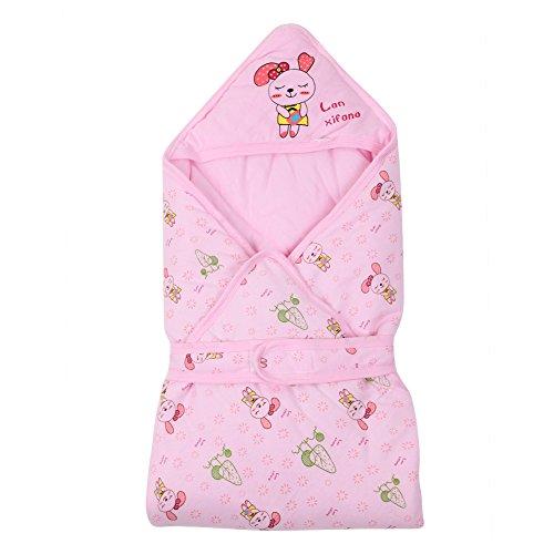 Manta de invierno Envoltura de bebés Bebé recién nacido Universal Nido de ángel Nacimiento Bebés Saco de dormir unisex Algodón para asientos de auto Landaus Cubiertas de bebé Cochecitos Camas (rosa)