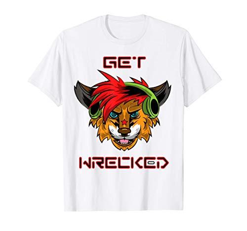 DJ Headphone Get Wrecked Fursuit Fox Wolf Furry T-Shirt T-Shirt