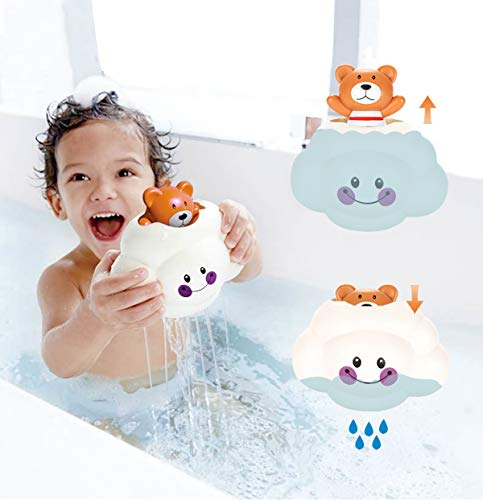 YOUTHZH Baby Bath Toy Little Bear and Rain Cloud Squirt Spray Water Toy Baby Shower Head for Bath Rainmaker Automatic Floating Pool Bath Tub Toys Gifts for 1-6 Years Old Kids Boys and Girls