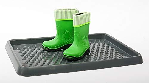 BranQ - Home essential Schuhablage aus Kunststoff, PP, Anthrazit, 54 x 38,5 x 3 cm (LxBxH)