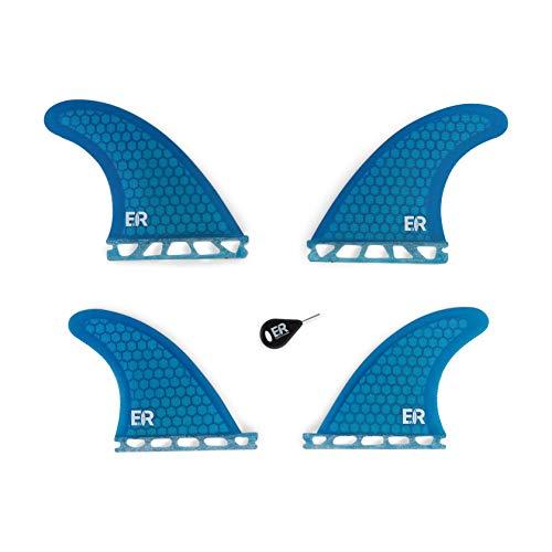 Eisbach Riders Future - Juego de tablas de surf (fibra de vidrio, incluye aletas para tabla de surf y SUP, color azul)