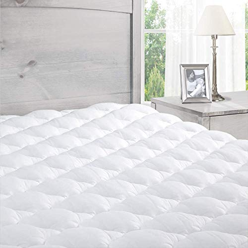 ExceptionalSheets Extra Plush Fitted Mattress Pad, Queen