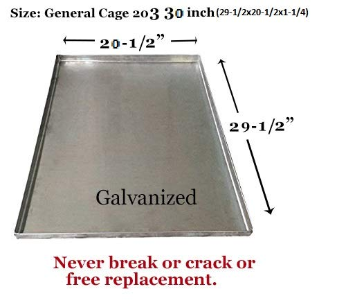 Crate Pan 29 X 20 Pet Pan Replacement Tray for Dog Kennel Pan Tray Dog Kennel Tray Pan Dog - General Cage 30-inch Dog Crates - GL - 29 1/2' x 20 1/2' x 1 1/4' H