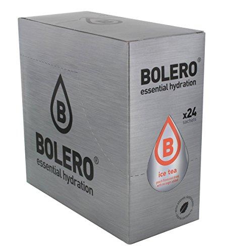 Bolero Bebida Instantánea sin Azúcar, Sabor Té Melocotón - Paquete de 24 x 8 gr - Total: 192 gr