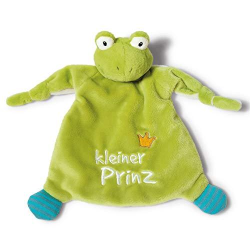 NICI Schmusetuch Frosch 'Kleiner Prinz´ 25x25cm – Frosch Schnuffeltuch ab 0+ Monaten – Kuscheltuch für Babys & Kleinkinder – Baby Kuscheltier / Schnuffeltuch – Schmusetuch für Mädchen & Jungen – 40045