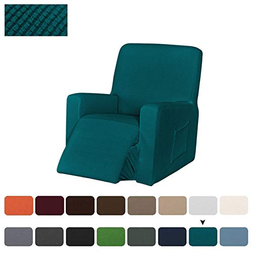 Sesselbezug Stretch, Sesselschoner Für Relaxsessel, Sesselüberwürfe Elastisch Bezug Für Fernsehsessel Liege Sessel, Liegestuhl Abdeckung (Blau Grün)