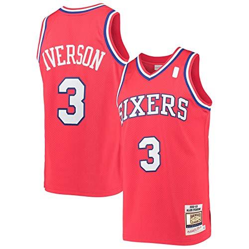 MOLIHUA Camiseta roja -Custom #3 Traning Jersey Hardwood Classics Swingman JerseyBasketball Jersey Icon Edition