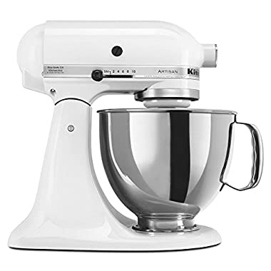 KitchenAid 5 Quart Artisan Stand Mixer - Matte White