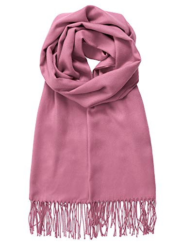 MBJ Shawls and Wraps Elegant Cashmere Scarfs for Women Stylish Warm Blanket Solid Winter Scarves ONESIZE MULBERRY