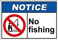 スズ絵釣り警告バー家族骨董家ガレージクラブバーカフェファーム12×8インチ
