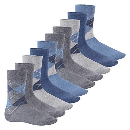 Footstar Herren Motiv Socken (10 Paar), Baumwoll Socken mit Mustern - Classic Mix 39-42