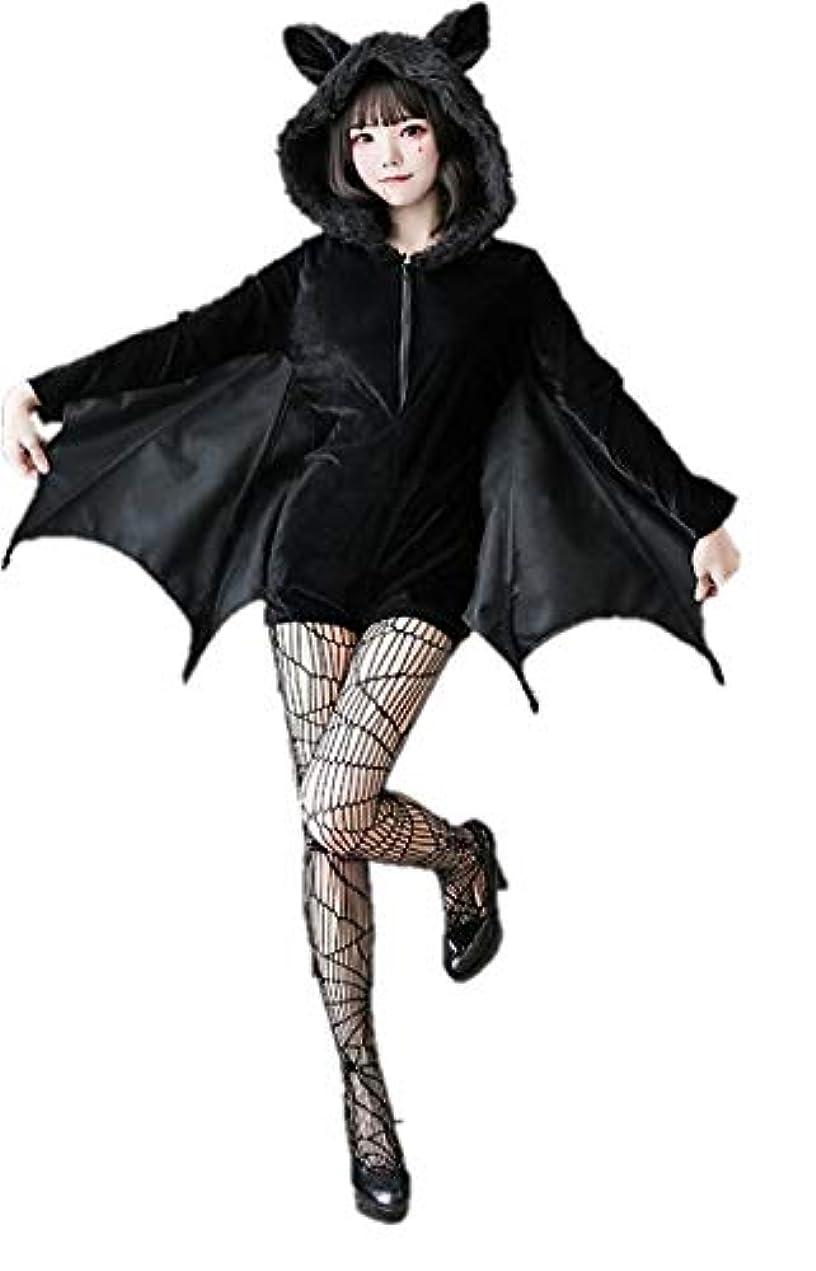 実証する掘る中毒SOLAI ハロウィン コスプレ コスチューム こうもり 吸血鬼 衣装 仮装 悪魔 デビル (XXL)