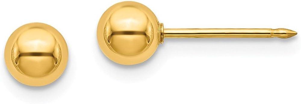 24K Plated 5mm Ball Post Earrings