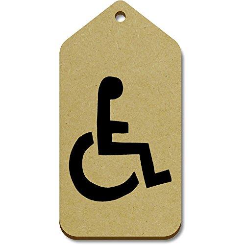 Azeeda 10 x Groß 'Rollstuhl-Symbol' Hölzerne Tags (TG00018049)