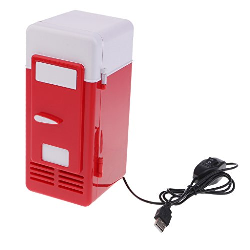 Baoblaze Mini Portatile Senza Fluorine-free da Tavolo Cooler Warmer Frigorifero da USB per Casa Ufficio Auto Viaggio - Rosso