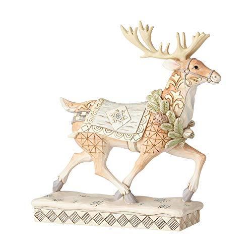 Enesco Jim Shore Heartwood Creek White Woodland Reindeer Figurine, 8.25', Multicolor