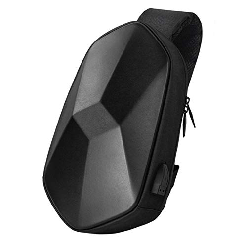 Lecheng Waterproof Sling Bag, Lightweight Chest Shoulder Cross-Body Bag with USB Charging Port, Anti-extrusion Single Strap Backpack for Hiking Travel Daily