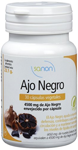 Sanon, Cápsulas Vegetales con Ajo Negro, 30 Cápsulas, 15.5 g