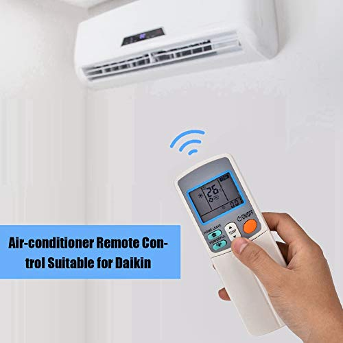 ASHATA vervangende afstandsbediening airconditioning, hoogwaardig slijtvast airconditioning afstandsbediening afstandsbediening afstandsbediening 8 meter bereik voor Daikin ARC433A1