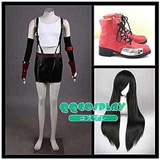 バーサービス株式会社コスプレ衣装+ウイッグ+靴 ファイナルファンタジーVII ティファ・ロックハート (Tifa Lockhart) cosplay (S, 男)