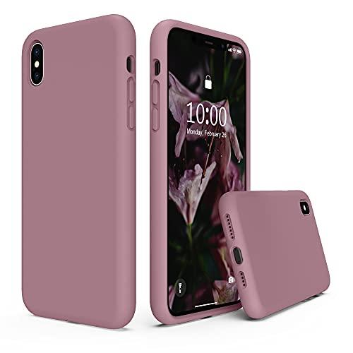SURPHY Hülle Kompatibel mit iPhone XS MAX Hülle Silikon, iPhone XS MAX Hülle, iPhone XS MAX Handyhülle, Silikon Handyhülle für iPhone XS MAX 6,5 Zoll Silikon Protective Hülle Schutzhülle, Flieder Lila