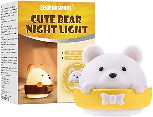 Luz De Noche Para Niños, Luz De Noche De Oso Para Niños, Lámpara De Noche Portátil Y Recargable Para Dormitorio De Niños Adultos