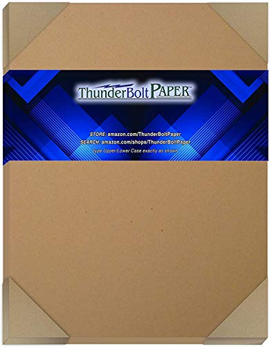 "50 Brown Kraft Fiber 80# Cover Paper Sheets - 8.5"" X 11"" (8.5X11 Inches) Standard Letter