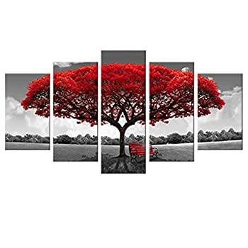 red canvas wall art 2