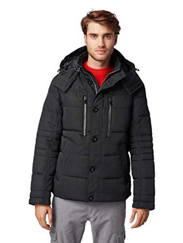TOM TAILOR Herren Puffer Jacke, Schwarz (Black 29999), Small (Herstellergröße: S)