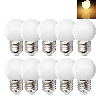 10Pack E26 E27 Led Bulb 1W Soft White 3000K Not Dimmable LED Energy Saving Light Bulbs 8 Watt Equivalent LED Lights for for Halloween Bedroom Holiday Decoration