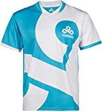 Cloud9 Official Jersey - 2017 Rerelease Edition, for Adults & Teens, Dual Color, Printed Graphic Logo, Merchandise - Esports Apparel for Young Gamers, Players & Fans (White, Large)