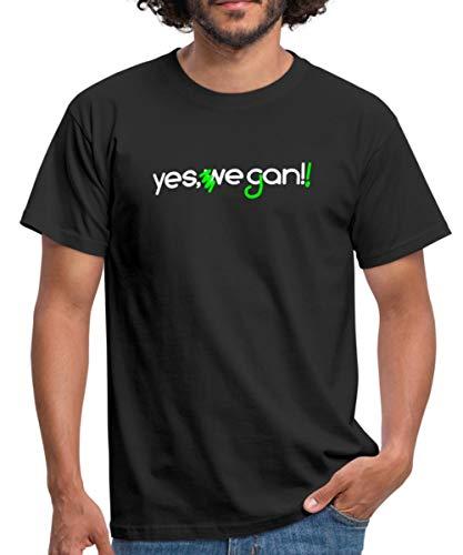Yes We Can Vegan Korrektur Männer T-Shirt, L, Schwarz