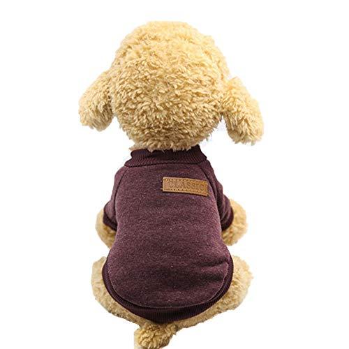 Oncpcare Classic Coltrui Effen Kleur Comfortabele Hond Kleding Eenvoudige Stijlvolle Hond Trui Nobele Warm Hond Kostuum Mode voor Puppy en Kleine Dieren in de herfst of winter, S, BRON