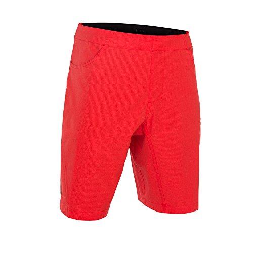 Ion Paze 2018 - Pantaloncini da ciclismo, corti, colore nero, Colore: rosso, L (34)