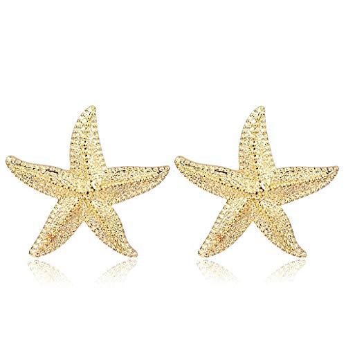 Gjyia Boho Grote Zeester Oorbellen Ocean Sea Star Bib Studs Voor Vrouwen Verklaring Sieraden