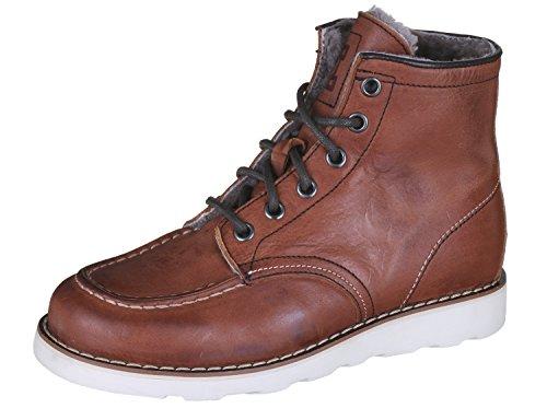 Momino 3430M Stiefel Boots Stiefeletten Jungen, Braun (50840 Dakota Cuoio), 33