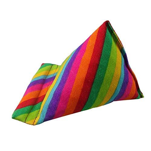 Tablet Halterung Tablet Stander Tablet Halter Kissen Sofa Lesehalterung Handykissen Leinwand Regenbogenmuster