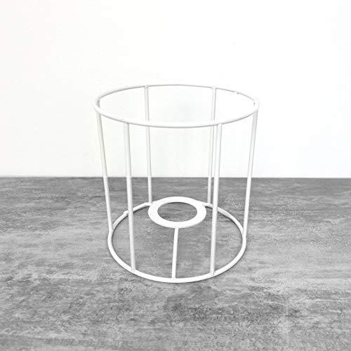 Lealoo Petite Armature Ronde Blanche pour Abat-Jour, Hauteur et diamètre 10 cm, pour Douille E14, 28mm