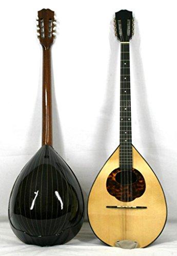 Musikalia Bouzouki Griechische von Geigenbauer elektrifiziert. Version für Linkshänder, aus Palisander, Resonanzboden perfilata und Intarsien, Typ Konzertgitarre