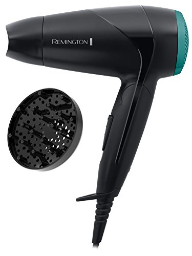 Remington Folding Travel Hairdryer with Mini Concentrator and Diffuser, Worldwide Voltage - D1500