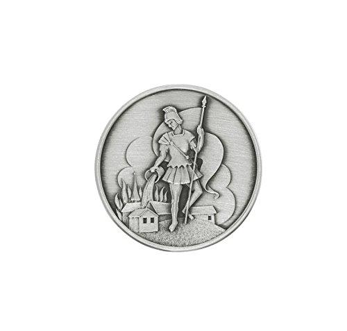 Unbekannt Plakette Heiliger Florian 3,5 cm, 999-feinversilbert, gesegnet und geweiht. Der HL. Florian ist der Schutzpatron der Feuerwehr