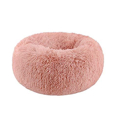 WMMCM Ronde warme antislip huisdierbedden orthopedisch hondenbed comfortabel donut-knuffelbed rond hondenbed ultrazacht, wasbaar honden- en kattenkussensbed Marshmallow kattenbed