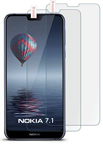 MoEx 2X 9H Panzerfolie für Nokia 7.1 Panzerglas Bildschirm Glasfolie [Tempered Glass] Screen Protector Glas Bildschirmschutz-Folie für Nokia 7.1 2018 Schutzfolie